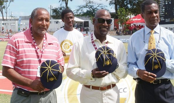 Andy Roberts Michael Holding and Sir Viv Richards