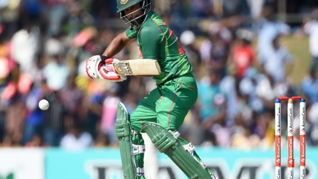 Bangladesh cricketer Tamim Iqbal plays a shot