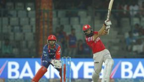 Hashim Amla of Kings XI Punjab bats during match 15 of the Vivo 2017 Indian Premier League between the Delhi Daredevils