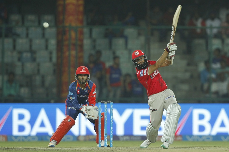 Hashim Amla of Kings XI Punjab bats during match 15 of the Vivo 2017 Indian Premier League between the Delhi Daredevils