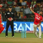 Sandeep Sharmal of Kings XI Punjab during match 43 of the Vivo 2017 Indian Premier League