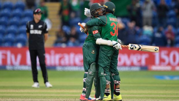 Bangladesh batsmen Shakib Al Hasan and Mohammad Mahmudullah