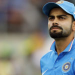 Virat Kohli of India looks on during the Victoria Bitter One Day International match between Australia and India