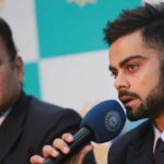 Indian cricket captain Virat Kohli and Director Ravi Shastri during the press conference