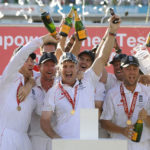 England team celebrating victory at Oval