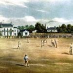 Sport. Cricket. pic: 19th Century. This illustration shows Surrey Cricket Ground at Kennington Oval.
