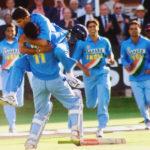 Saurav Ganguly at Lord's celebrating India victory