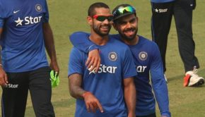 Indian Team during practice at PCA IS Bindra Stadium