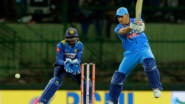 MS Dhoni against Sri Lanka