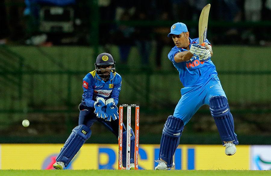 MS Dhoni against Sri Lanka