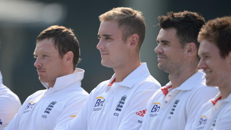 England players standing for Anthem