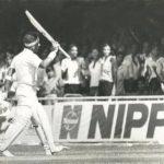 Sunil Gavaskar raises bat
