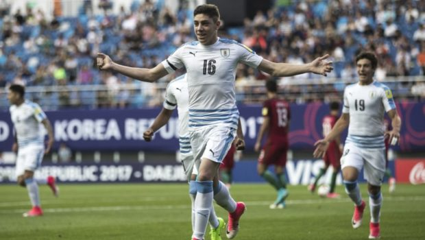 Real Madrid's Fede Valverde shows promise as new leader of Uruguay