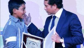 Prithvi Shaw with Sachin Tendulkar