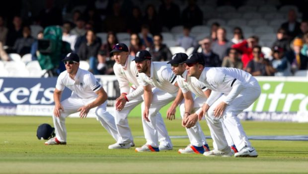 England Cricketers at slips