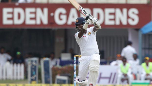 Angelo Mathews of Sri Lanka bats during day three