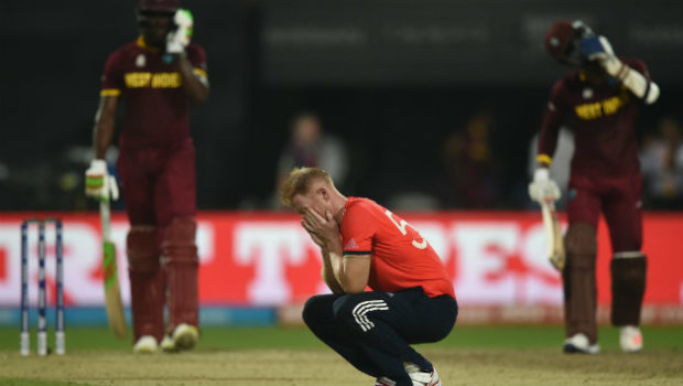 Ben Stokes conceded four sizes in World T20 2016 final