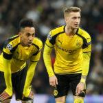 Pierre-Emerick Aubameyang of Borussia Dortmund Marco Reus of Borussia Dortmund