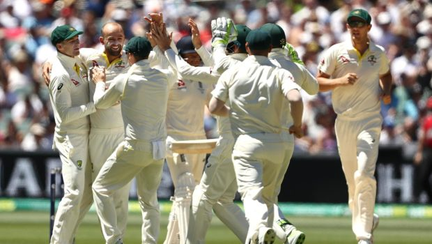 Nathan-Lyo-immediately-got-the-wicket-of-Moeen-Ali-for-2-after-being-brought-on-as-a-bowling-change.