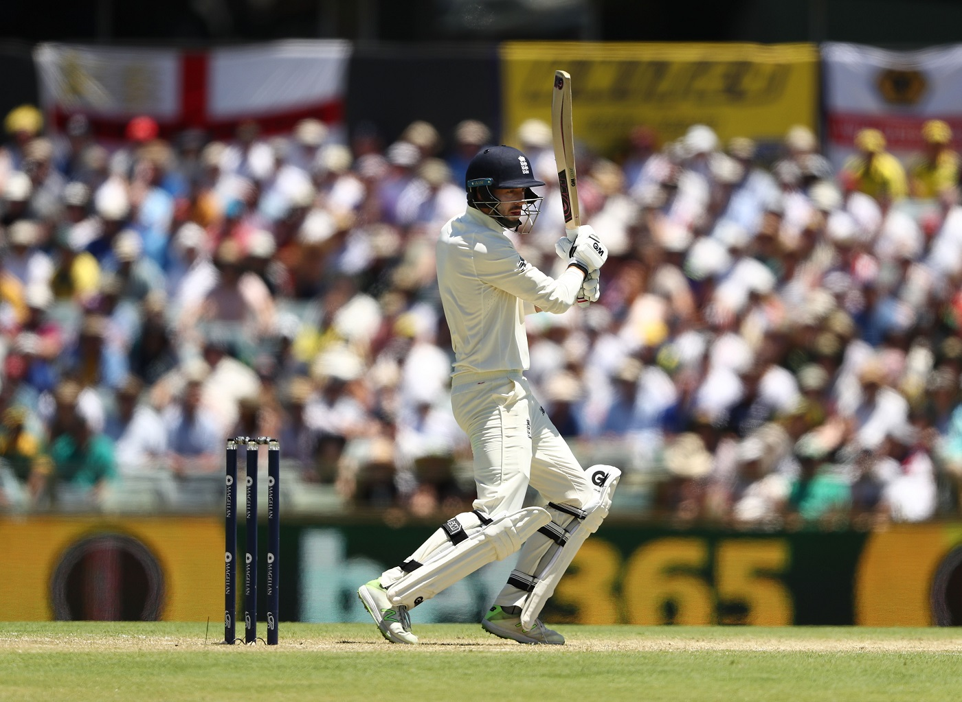 ames Vince of England bats during day one of the Third Test match