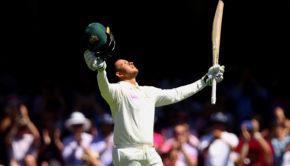 usman Jhawaja celebrating Test Hundred