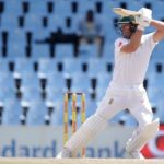 South Africa's batsman AB de Villiers plays a shot