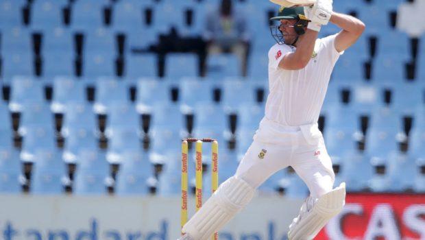 South Africa's batsman AB de Villiers plays a shot