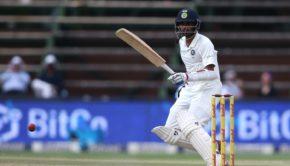 Bhuvneshwar Kumar of India looks for a run