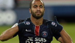 Paris Saint-Germain's Brazilian midfielder Lucas Moura