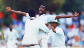 Phil Simmons embraces Courtney Walsh