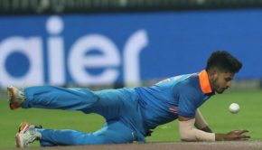 Shreyas Iyer of India during the 4th One Day International match between South Africa and India