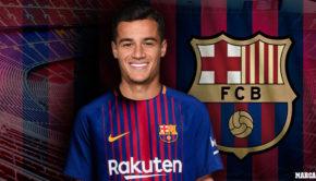 Barcelona's new Brazilian midfielder Philippe Coutinho