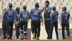 Sri Lanka players celebrate