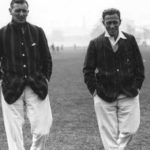 Two captains Major Fawkes (Leicester) (left) and Herbie W Taylor