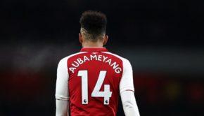 Pierre-Emerick Aubameyang of Arsenal during the Premier League match