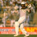 Saleem Malik batting for Pakistan during the 2nd Texaco Trophy