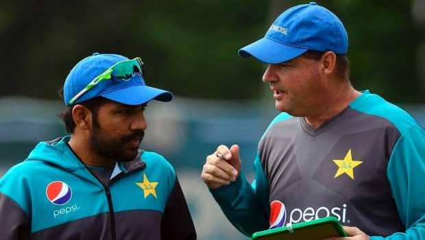 Pakistan captain Azar Ali with his coach