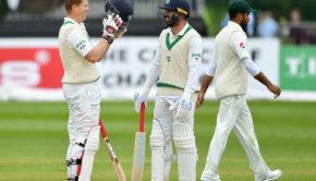 Ireland players enjoying Test cricket