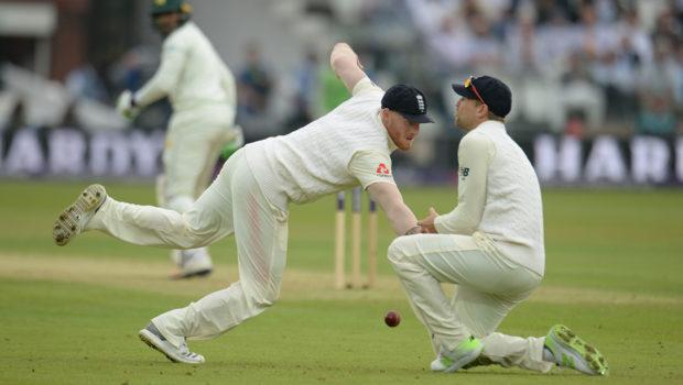 Stokes drops a catch at slip England v Pakistan