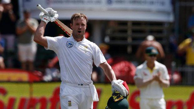 AB de Villiers celebrating Test Hundred