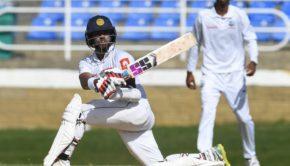 Kusal Mendis of Sri Lanka hits 4