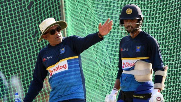 Sri Lanka during practice