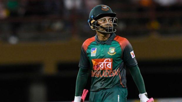 Mushfiqur Rahim of Bangladesh walks off the field