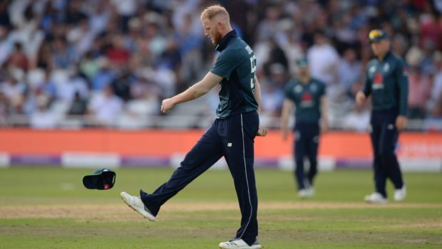 Ben Stokes of England reacts during the 1st Royal London One-Day International between England and India