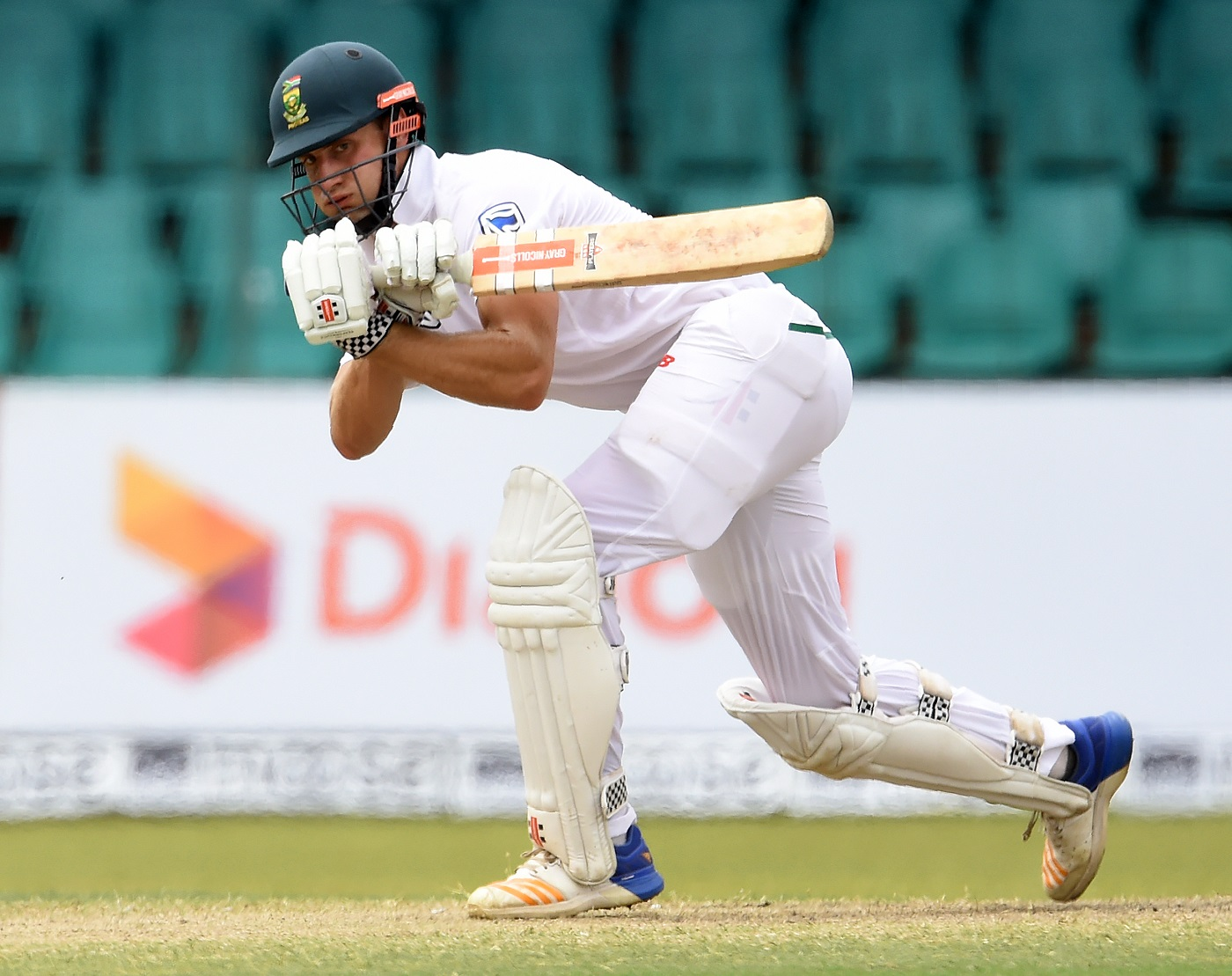 South Africa's Theunis de Bruyn plays a shot