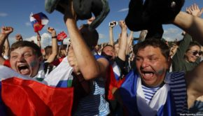 World Cup hosts 'Russian' towards final four with home help