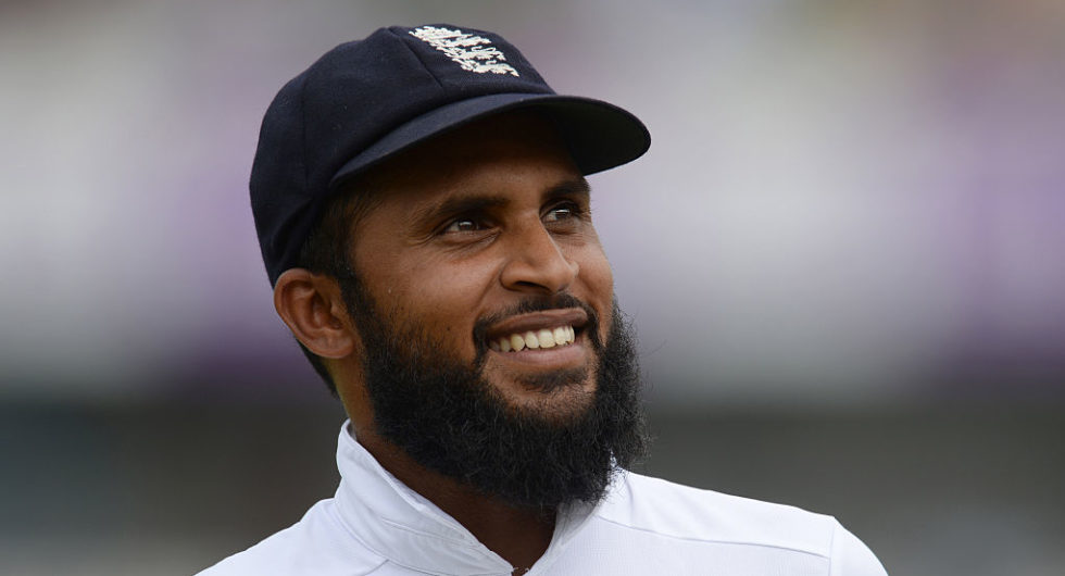 Adil Rashid during the second test match between Bangladesh and England