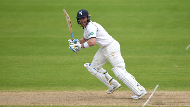 Ian Bell of Warwickshire bats during day two of Specsavers County Championship Division Two
