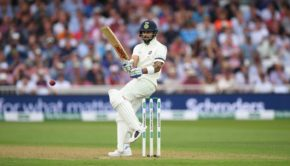 India batsman Virat Kohli pulls a ball to the boundary