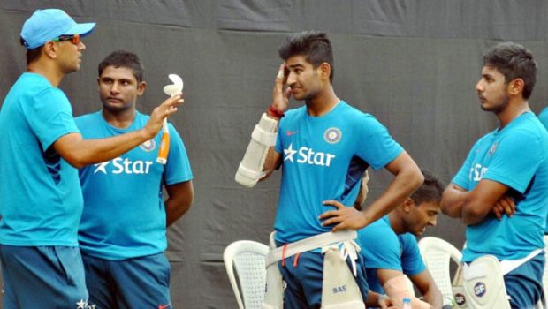 Rahul Dravid with Indian A team